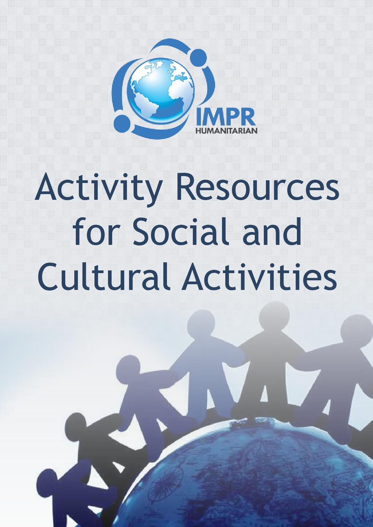 Activity Resources for Social and Cultural Activities [PDF]
