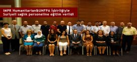 IMPR-Humanitarian&UNFPA-İşbirliğiyle-Suriyeli-sağlık-personeline-eğitim-verildi